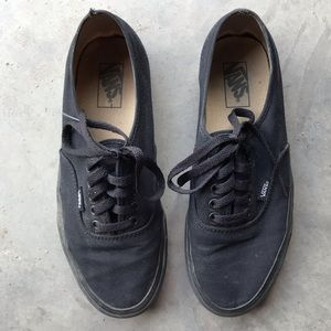 VANS | Authentic Men's Black on Black Sneakers